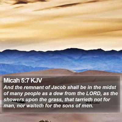 Micah 5:7 KJV Bible Verse Image