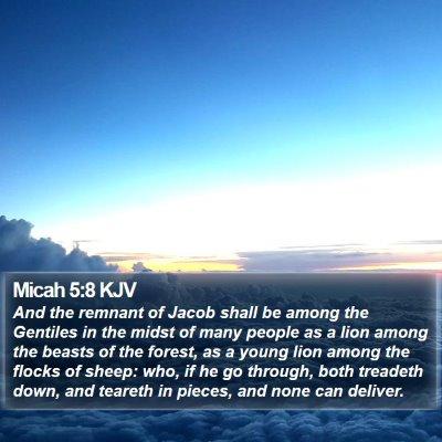 Micah 5:8 KJV Bible Verse Image