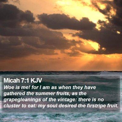 Micah 7:1 KJV Bible Verse Image