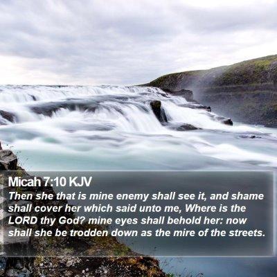 Micah 7:10 KJV Bible Verse Image