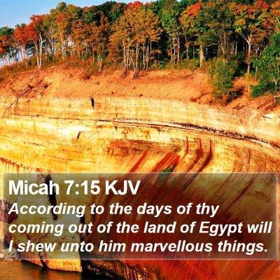 Micah 7:15 KJV Bible Verse Image