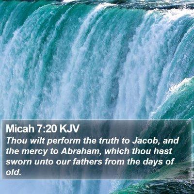 Micah 7:20 KJV Bible Verse Image