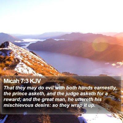 Micah 7:3 KJV Bible Verse Image