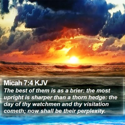Micah 7:4 KJV Bible Verse Image