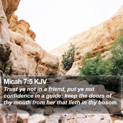 Micah 7:5 KJV Bible Verse Image