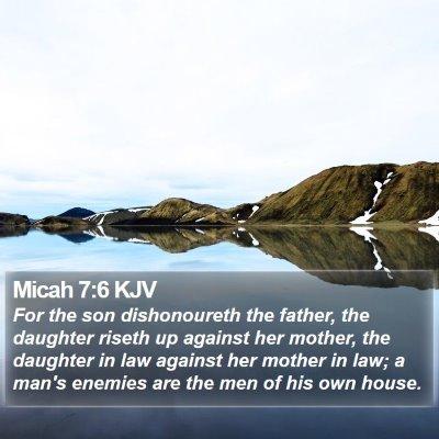 Micah 7:6 KJV Bible Verse Image