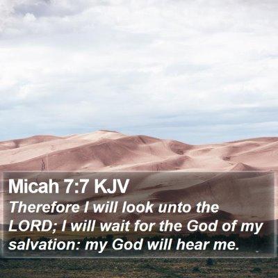 Micah 7:7 KJV Bible Verse Image