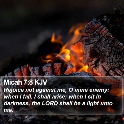 Micah 7:8 KJV Bible Verse Image