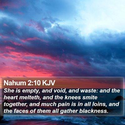Nahum 2:10 KJV Bible Verse Image