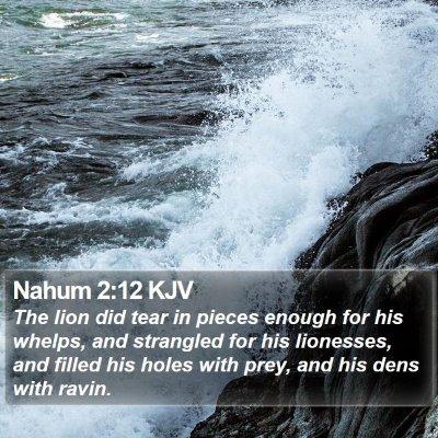 Nahum 2:12 KJV Bible Verse Image
