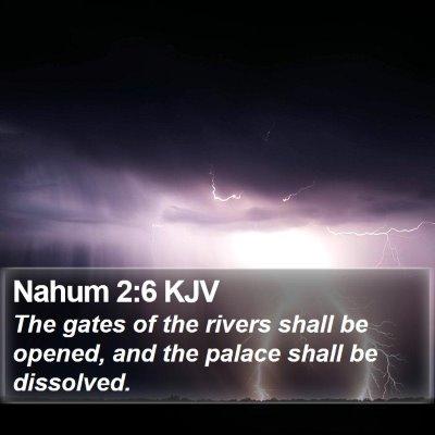 Nahum 2:6 KJV Bible Verse Image