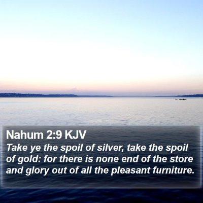 Nahum 2:9 KJV Bible Verse Image