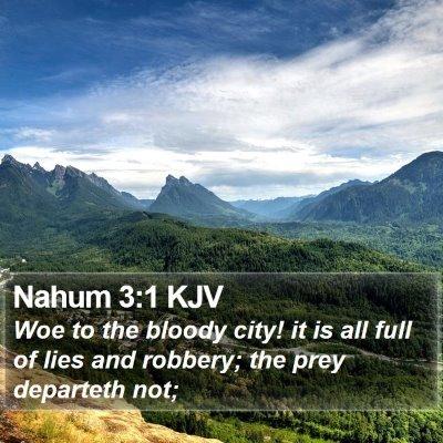Nahum 3:1 KJV Bible Verse Image