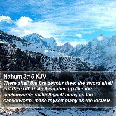 Nahum 3:15 KJV Bible Verse Image
