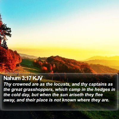 Nahum 3:17 KJV Bible Verse Image