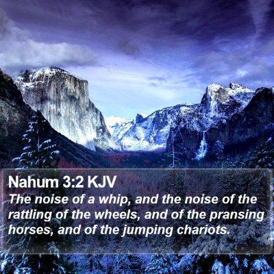 Nahum 3:2 KJV Bible Verse Image