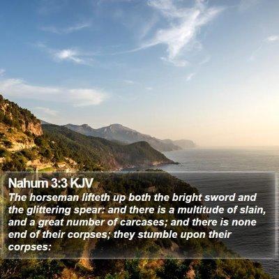 Nahum 3:3 KJV Bible Verse Image