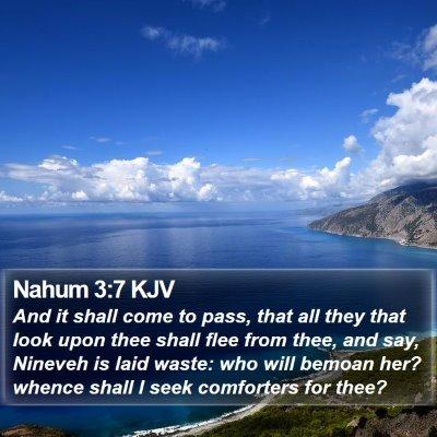 Nahum 3:7 KJV Bible Verse Image