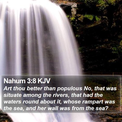 Nahum 3:8 KJV Bible Verse Image