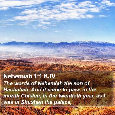 Nehemiah 1:1 KJV Bible Verse Image