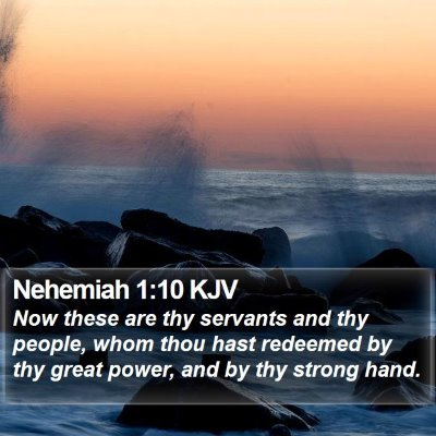 Nehemiah 1:10 KJV Bible Verse Image
