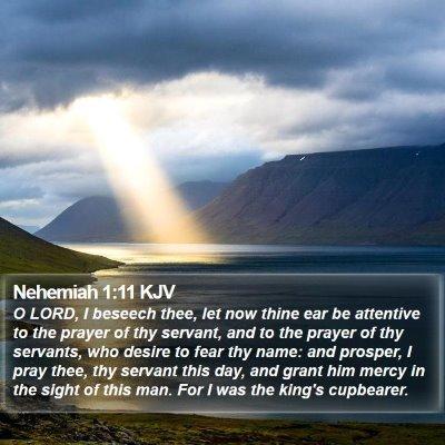 Nehemiah 1:11 KJV Bible Verse Image