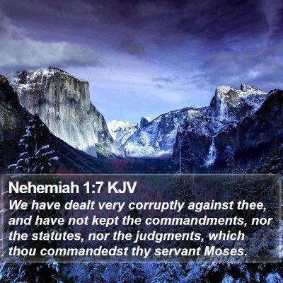 Nehemiah 1:7 KJV Bible Verse Image