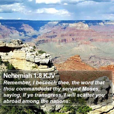 Nehemiah 1:8 KJV Bible Verse Image