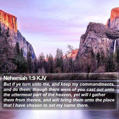 Nehemiah 1:9 KJV Bible Verse Image