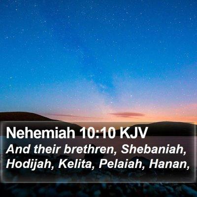 Nehemiah 10:10 KJV Bible Verse Image