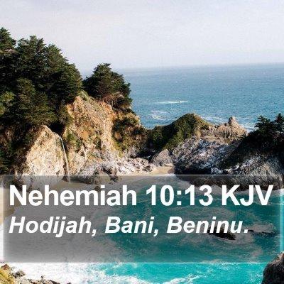 Nehemiah 10:13 KJV Bible Verse Image