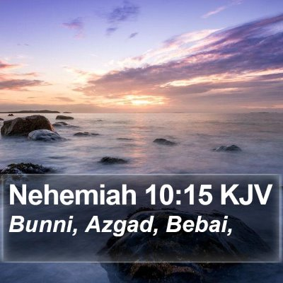 Nehemiah 10:15 KJV Bible Verse Image