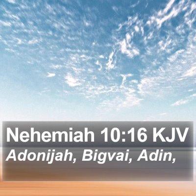 Nehemiah 10:16 KJV Bible Verse Image