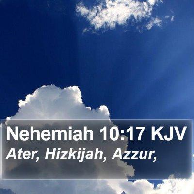 Nehemiah 10:17 KJV Bible Verse Image