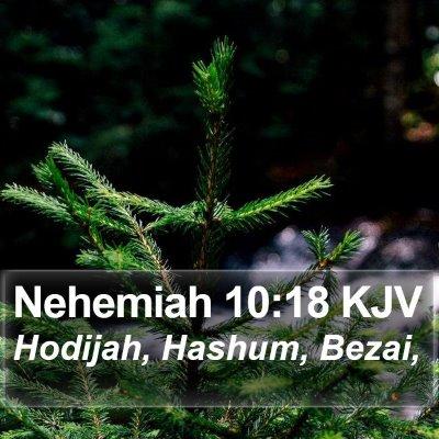 Nehemiah 10:18 KJV Bible Verse Image