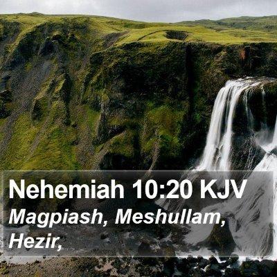Nehemiah 10:20 KJV Bible Verse Image