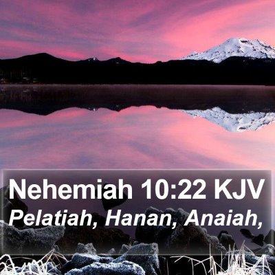 Nehemiah 10:22 KJV Bible Verse Image