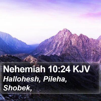 Nehemiah 10:24 KJV Bible Verse Image