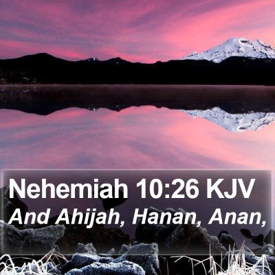 Nehemiah 10:26 KJV Bible Verse Image