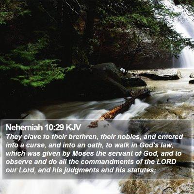 Nehemiah 10:29 KJV Bible Verse Image
