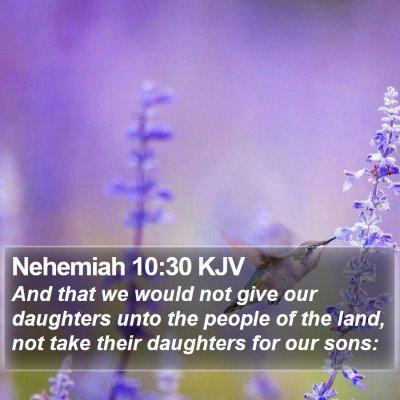 Nehemiah 10:30 KJV Bible Verse Image
