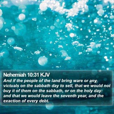 Nehemiah 10:31 KJV Bible Verse Image
