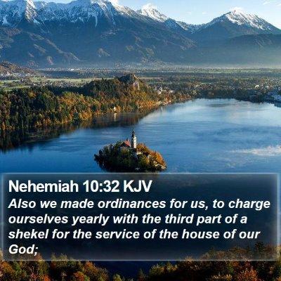 Nehemiah 10:32 KJV Bible Verse Image