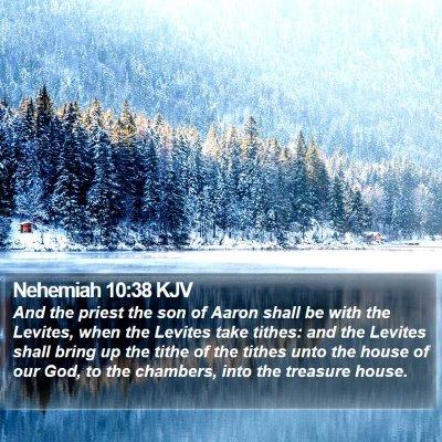 Nehemiah 10:38 KJV Bible Verse Image