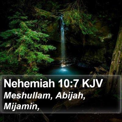 Nehemiah 10:7 KJV Bible Verse Image
