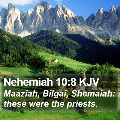 Nehemiah 10:8 KJV Bible Verse Image