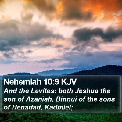 Nehemiah 10:9 KJV Bible Verse Image