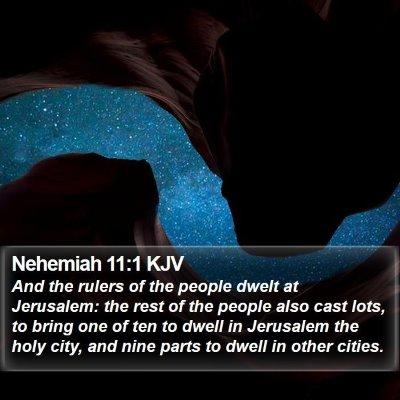 Nehemiah 11:1 KJV Bible Verse Image