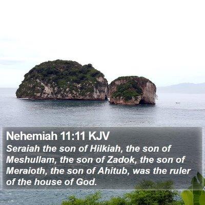 Nehemiah 11:11 KJV Bible Verse Image