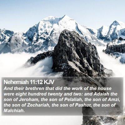 Nehemiah 11:12 KJV Bible Verse Image